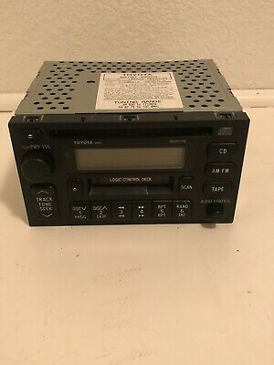1999 CAMRY RADIO STEREO RECEIVER DBL DIN MOUNTED 6 SPEAKER 86120-33220 ID-16810 Dbl Din Radio