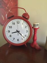 Giant red clock and candlestick! Bligh Park Hawkesbury Area Preview