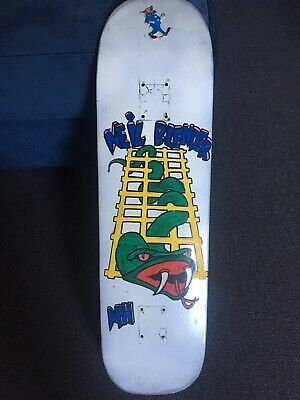 "Zoo York Skateboard Deck w/ G&S Neil Blender ""Snake & Ladder"" Image RARE!!"