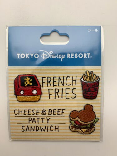New Tokyo Disney Resort French Fries Sandwich x3 Cell Phone Embroidered Stickers