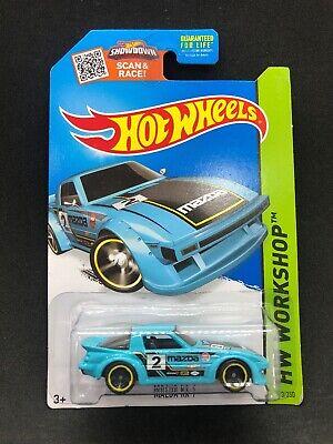 Hot Wheels 2015 Mazda RX-7 Teal Kmart Exclusive JDM Vintage  Rare HTF New Car