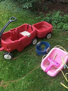 Little tikes wagon&trailer. 2 swings.