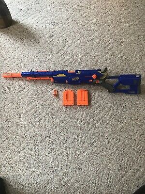 Nerf N-Strike Elite Long Strike CS-6 Blaster Rifle With Two Clips And Darts