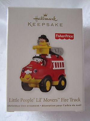 2011 Hallmark Fisher Price Little People Lil' Movers Fire Truck Ornament NIB