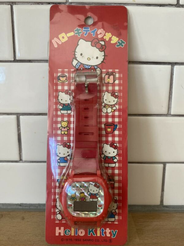 Very Rare Vintage Hello Kitty Digital Watch Sanrio 1976 1992 New