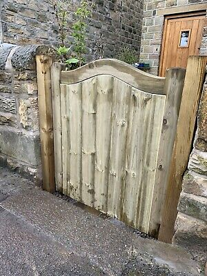 Solid Swan Neck Timber Gate. Bespoke Wooden Gate 0.9m X 0.9m