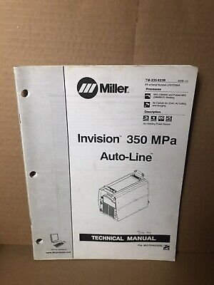 Miller Invision 350 Mpa Auto Line Technical Manual Tm-235 623b Arc Mig