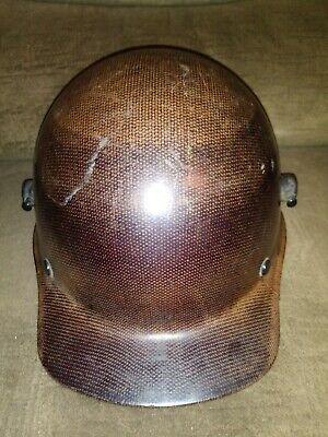 Vintage Carbon Fibre Msa Skullgaurd Hard Hat Size Medium Fas-trak 22