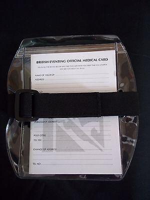 Medical Arm Band - Adjustable Elastic - British Event Medical Card - by Shires