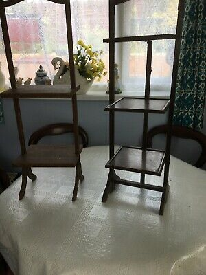 Two Wooden Vintage Plant Stands