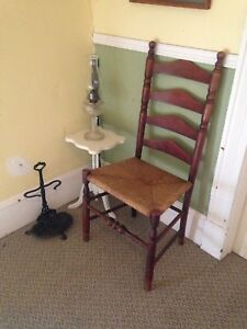 Early Antique Ladder Back Chair