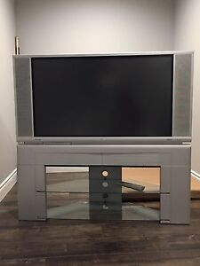 "Hitachi 42"" Flat Screen Rear Projection."