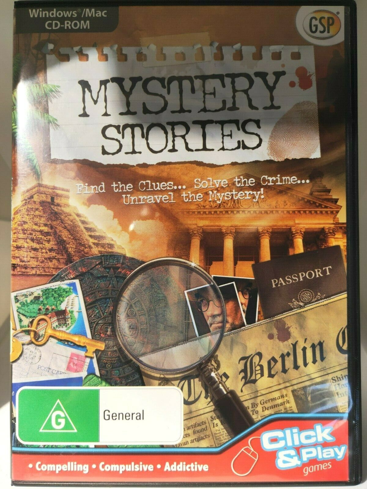 game computer - Mystery Stories PC CD-ROM, Hidden Object Game