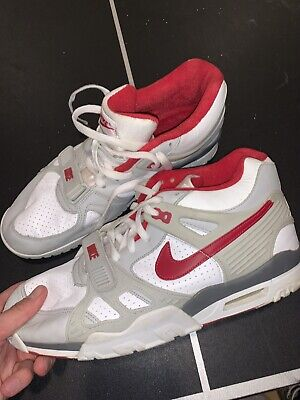 Vintage Nike Air Max Trainer III 3  White Red Grey 679066-161