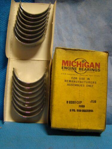 1969 - 98 Ford Mercury 351 Windsor 5.8 Mustang Cougar T Bird Rod Bearing Set 020