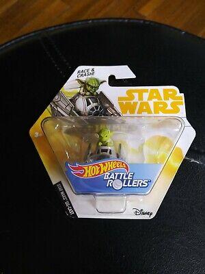 1 Ct Star Wars Hot Wheels Yoda Jedi Starfighter Die Cast Battle Rollers Age 3 Up