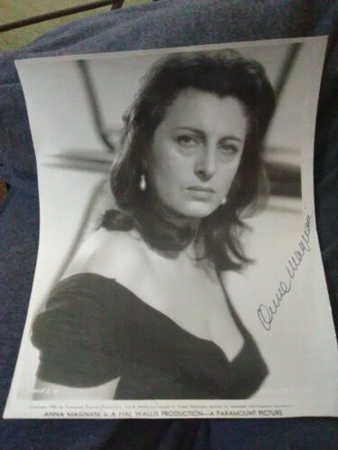 Anna Magnani Signed in Person Photo