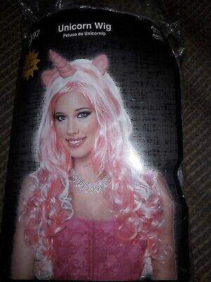 Unicorn Wig Adult Pink And White New Fantasy Costume Halloween Costume
