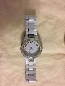 Guess white watch