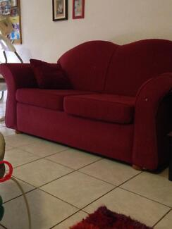 2 FREE COUCHES, two seater, red, used in good condition