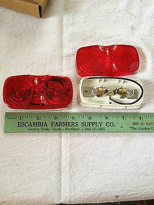 Qty 2 Trailer Truck Red Clearanceside Marker Light 561-0682 Utility Cargo