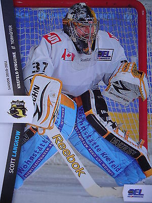 174 Scott Langkow Krefeld Pinguine DEL 2010-11