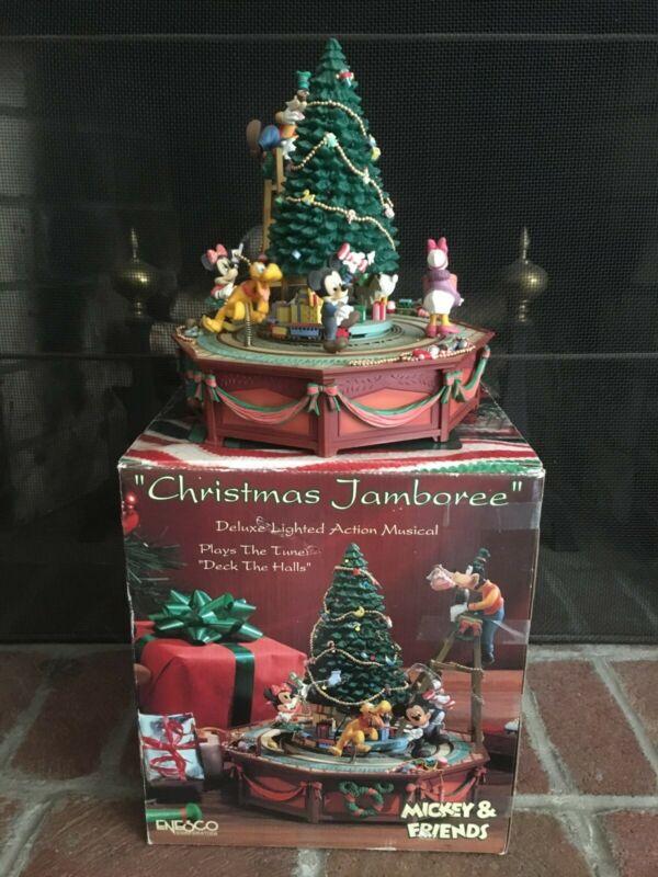 Disney Enesco Vintage Mickey & Friends Christmas Jamboree Action Musical