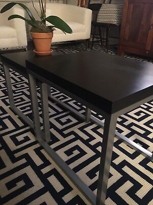 Wood and Metal Side / Accent Tables