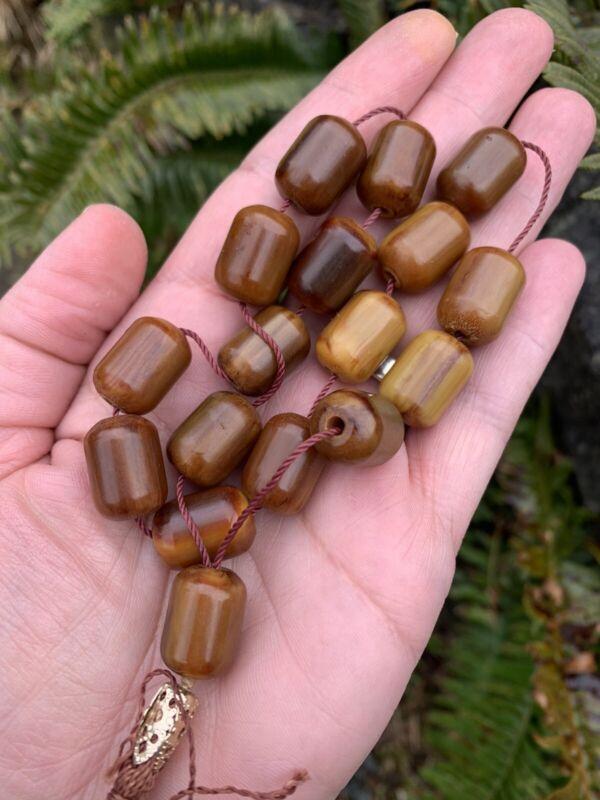 Vintage Butterscotch Amber Bakelite Prayer Worry Beads