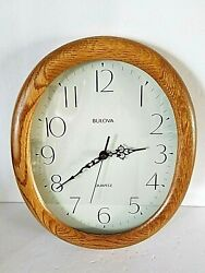 BULOVA WOOD FRAME WALL CLOCK C4411 13 inches Vintage
