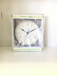NEW AcuRite White Finish Indoor/Outdoor Clock with Thermometer