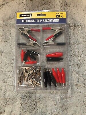 Alligator Clips Wire Connector Battery Terminal Assortment Kit Electrical Roach
