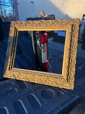 """Custom Picture Frame1 3//4/"""" Speckled Red w Gold TrimGreat for Artwork"""