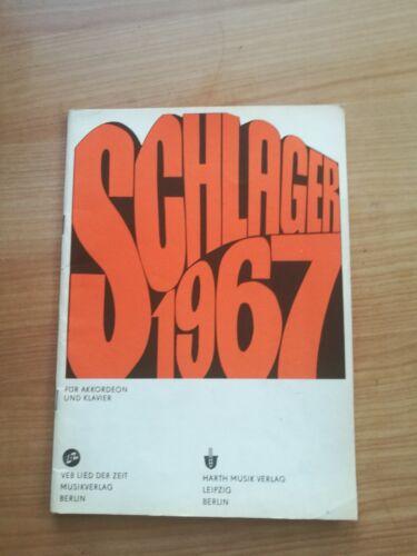 Noten. Schlager 1967. Für Akkordeon und Klavier.