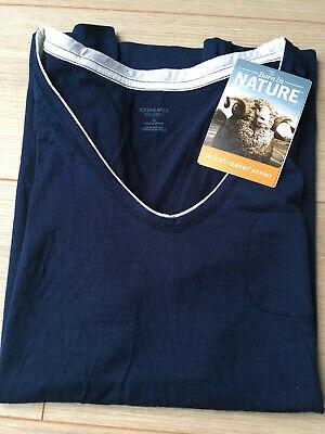 Icebreaker Merino Women's T-shirt - Harmony V-neck Admiral Blue - Small
