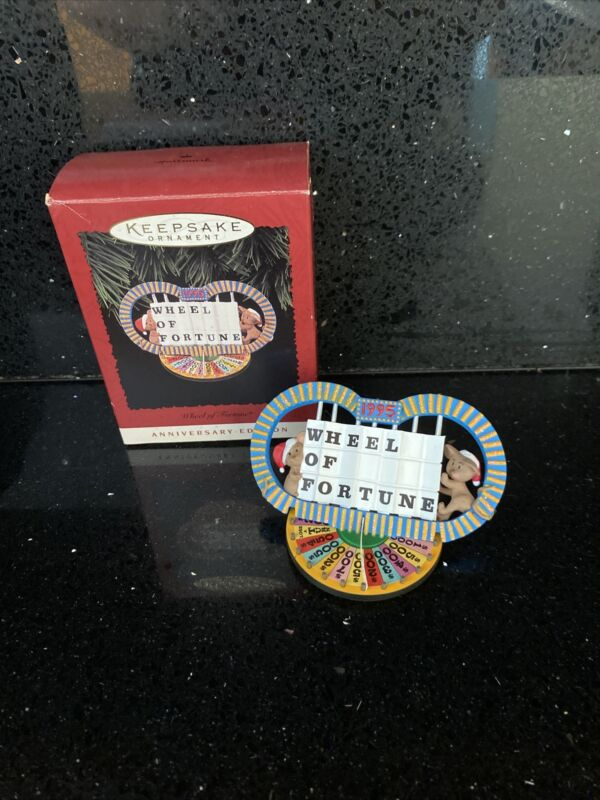 Hallmark Christmas Ornament 1995 Wheel of Fortune Anniversary Ed. — It Spins!