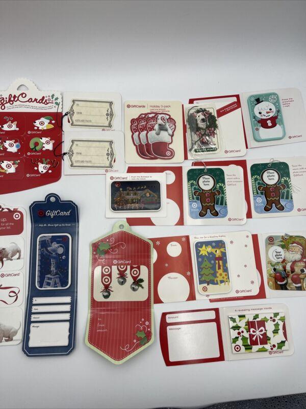Target Gift Card Christmas LOT of 15 - Older - No Value