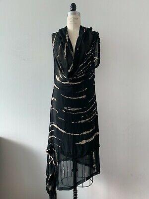 Peachoo + Krejberg Printed Black Dress S Ann Demeulemeester Uma Wang