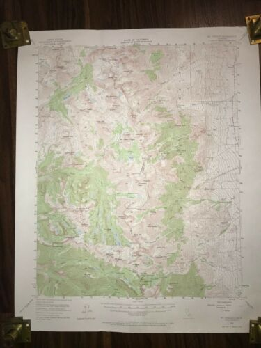 1953 MT PINCHOT LOS ANGELES CALIFORNIA GEOLOGICAL RARE WATER RESOURCES MAP