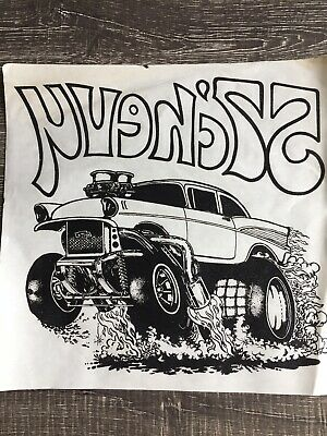 VINTAGE 57 CHEVY IRON ON TRANSFER SOFT LOOK T-SHIRT UNUSED THE RAT'S HOLE