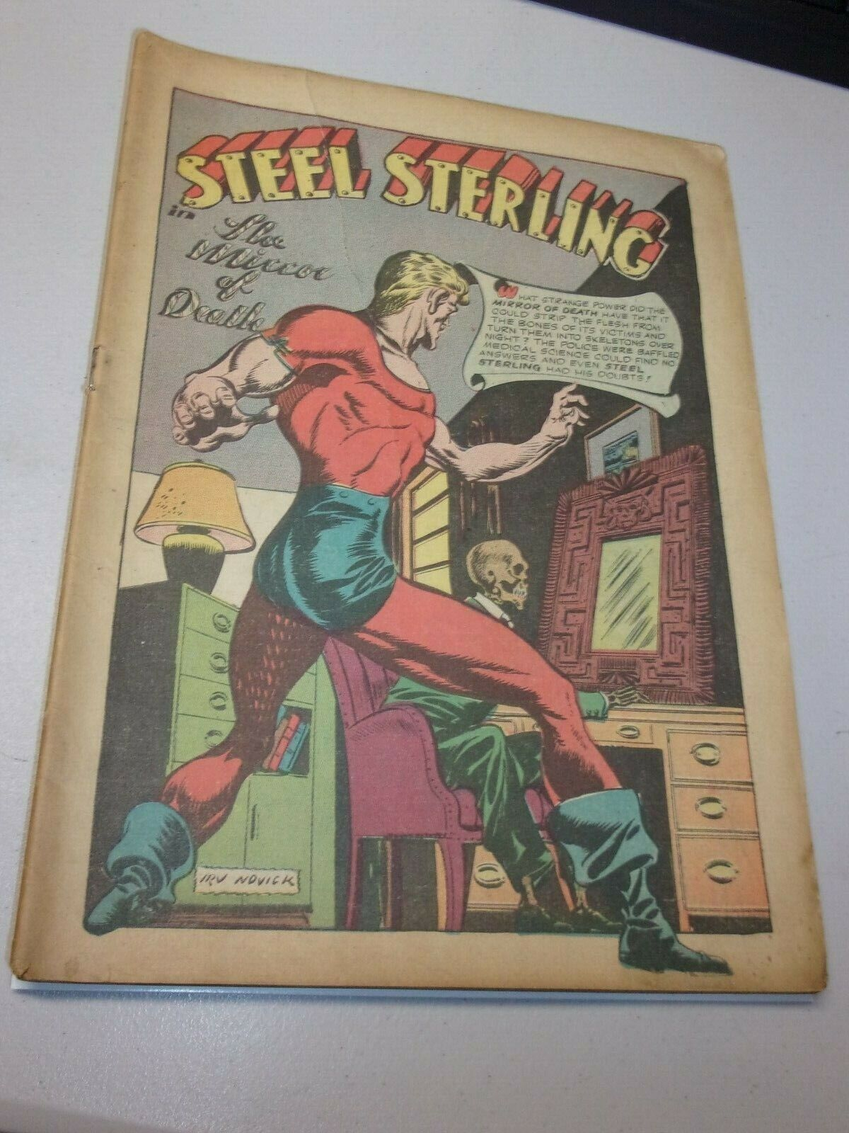 Zip Comics 37 Steel Sterling The Web Cover-less Golden Age Classic - $80.48