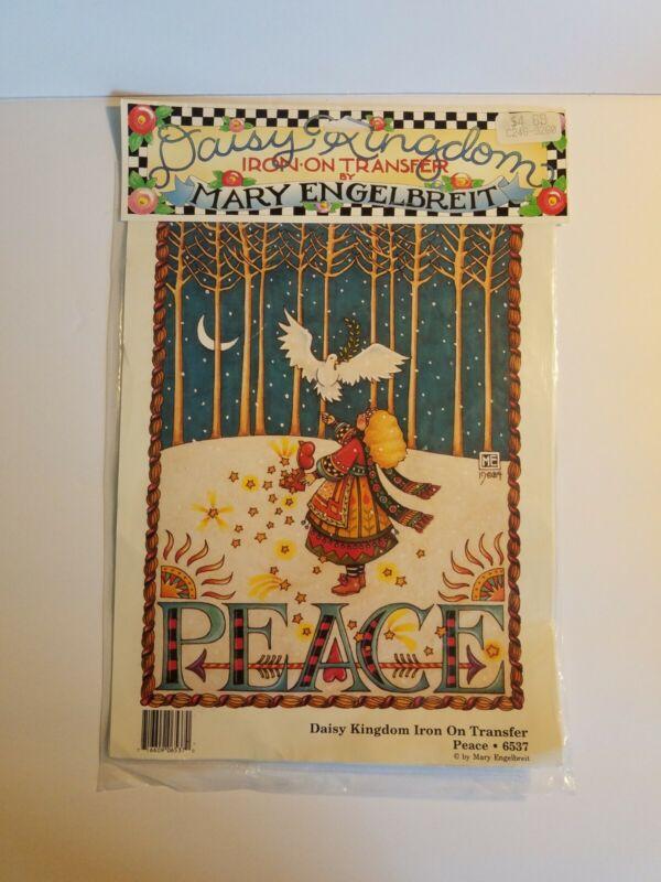 Mary Engelbreit Iron On Transfer Peace 6537 Dove Girl Forest Christmas Serene D
