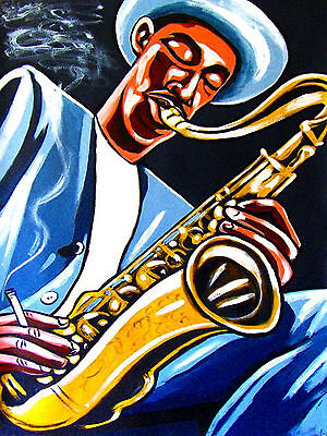 - DEXTER GORDON POSTER print tenor saxophone a swingin affair blue note go cd sax