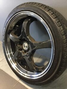 """IB RACING WHEELS IB831 5 SPOKE 17"""" ALLOY WHEELS AND TYRES Carramar Fairfield Area Preview"""