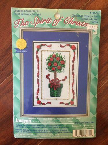 Janlynn Spirit Of CHRISTMAS TOPIARY TREE Counted Cross Stitc