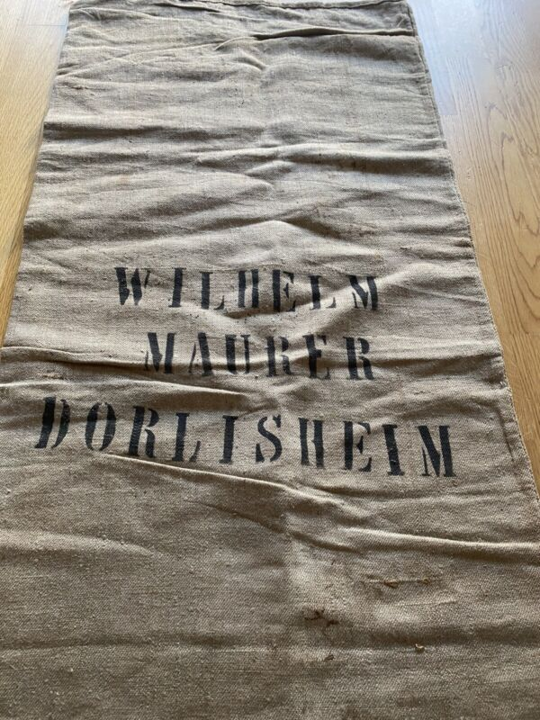 Vintage GRAINSACK grain sack feed bag BROWN Burlap linen old bag