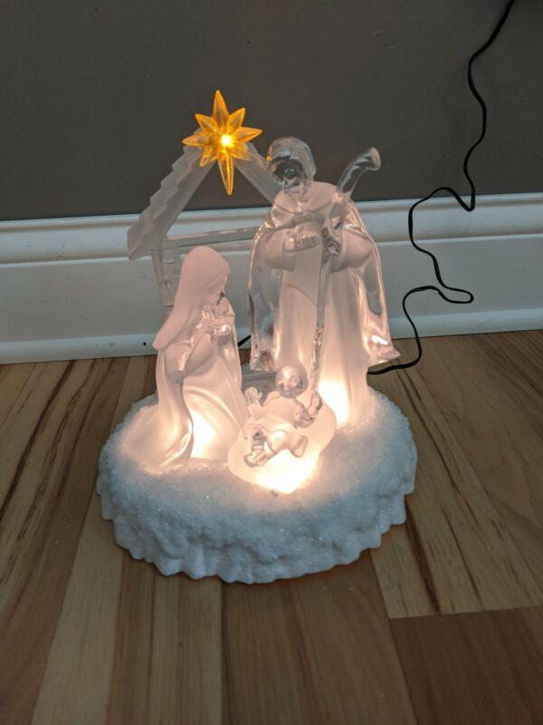 JC Penney Home Collection Acrylic Light Nativity Christmas Light Display NIB NEW