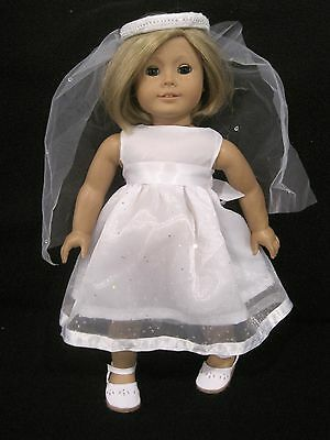 Modern First Communion Dresses (American girl doll dress for  first communion/Wedding or fancy dress)