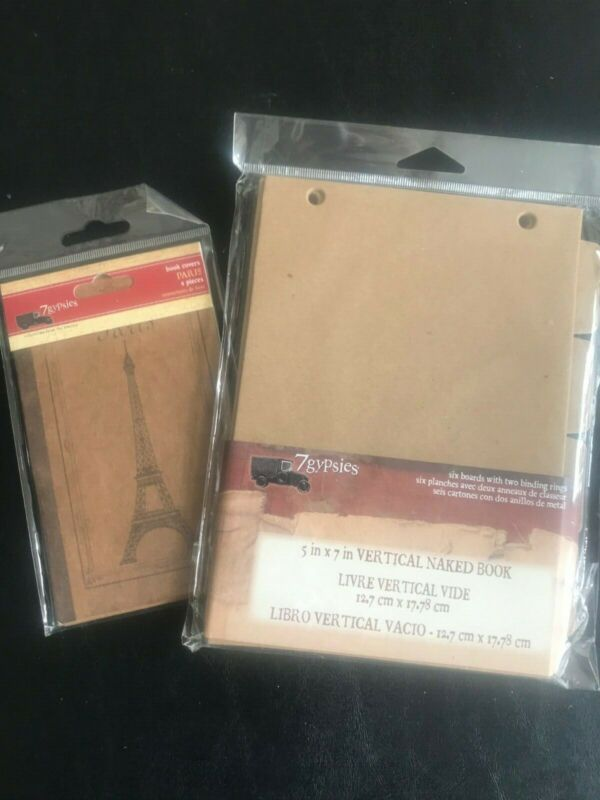 7 Gypsies 5x7 Vertical Naked Book and Paris Book Covers - NEW