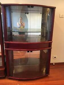 Glass display cupboard Elermore Vale Newcastle Area Preview